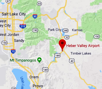 Map & Directions to Heber Valley Airport (KHCR)